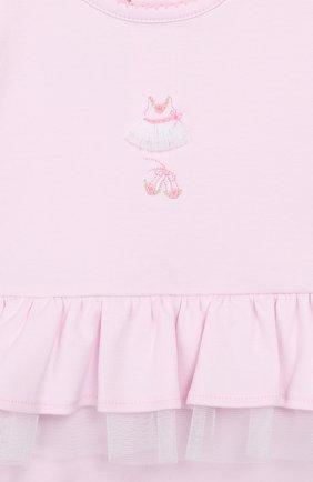 Детское хлопковый комбинезон KISSY KISSY розового цвета, арт. KGR04455N | Фото 3
