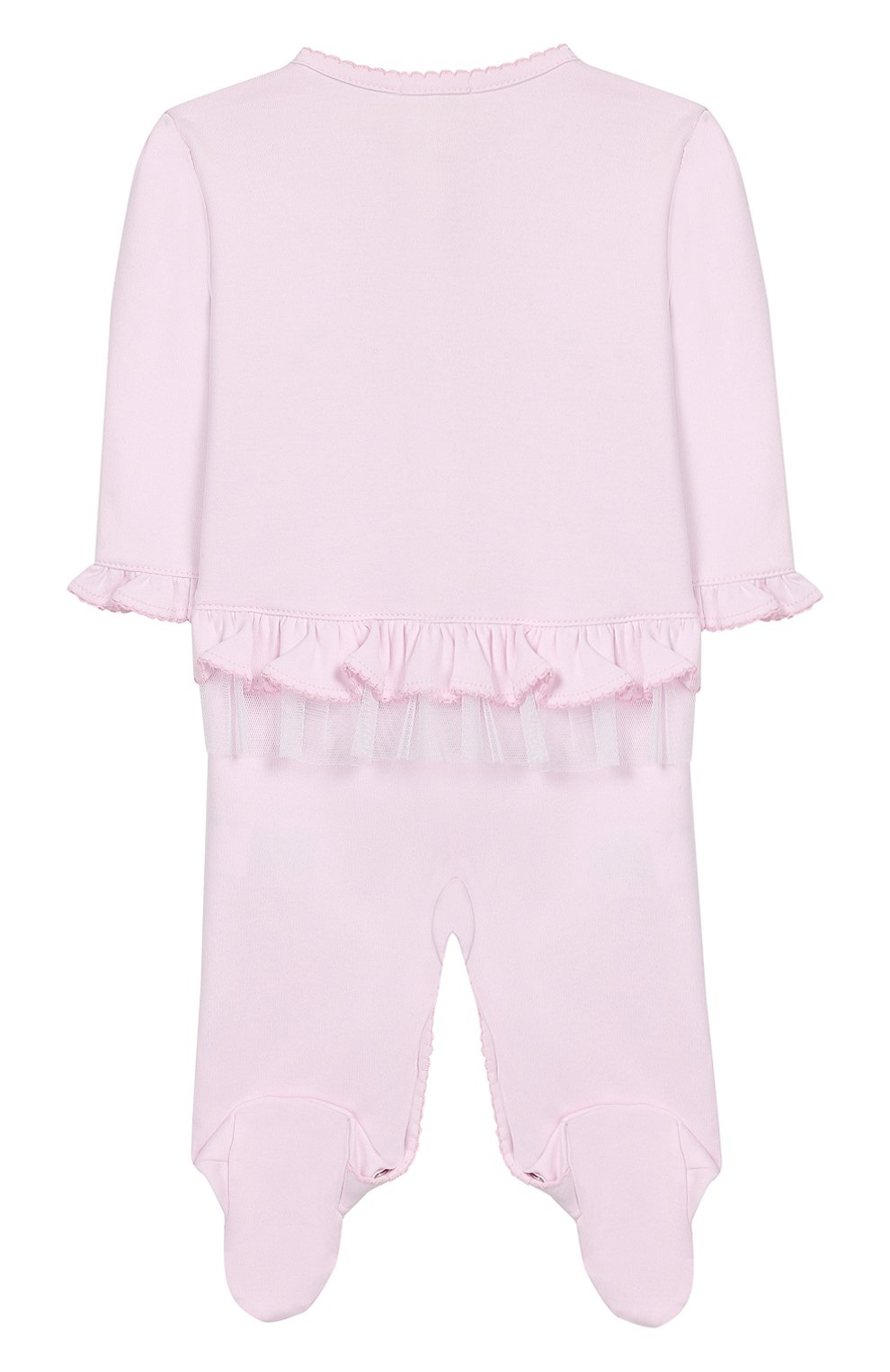 Детский хлопковый комбинезон KISSY KISSY розового цвета, арт. KGQ04451N | Фото 2