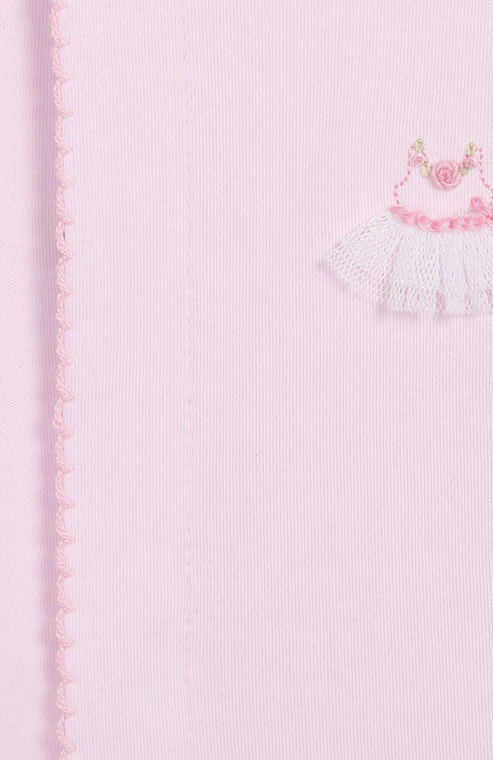 Детский хлопковый комбинезон KISSY KISSY розового цвета, арт. KGQ04451N | Фото 3