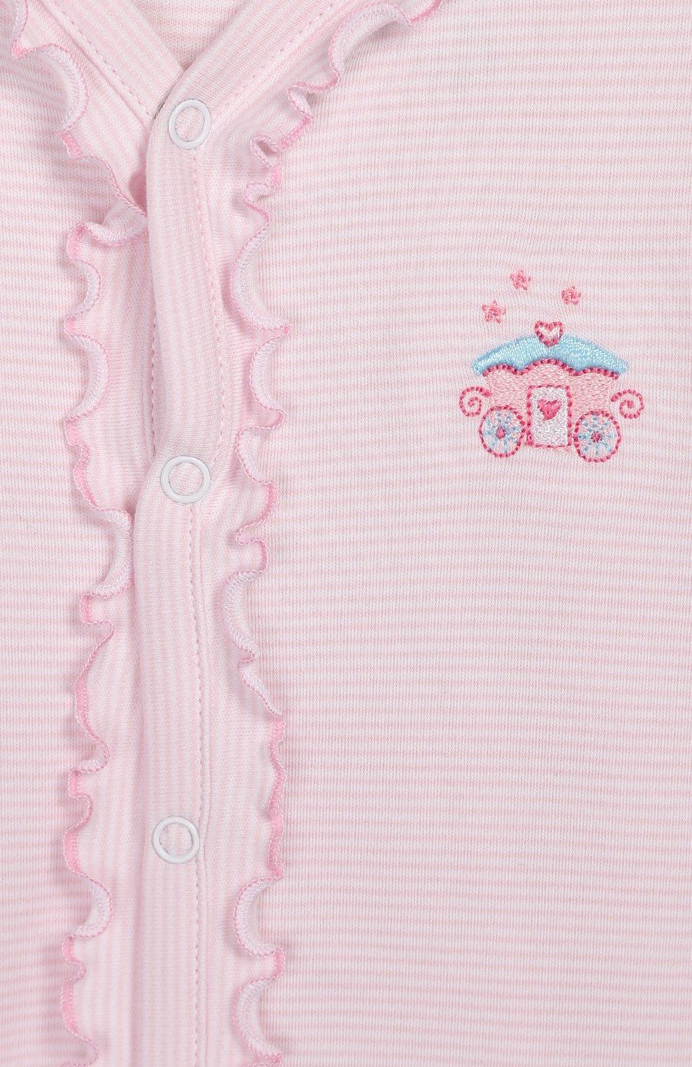Детский хлопковый комбинезон KISSY KISSY розового цвета, арт. KGQ04436N   Фото 3