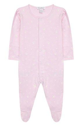 Детский хлопковый комбинезон KISSY KISSY розового цвета, арт. KGQ04285N | Фото 1