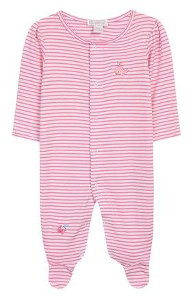 Детский хлопковый комбинезон KISSY KISSY розового цвета, арт. KGQ03544N | Фото 1