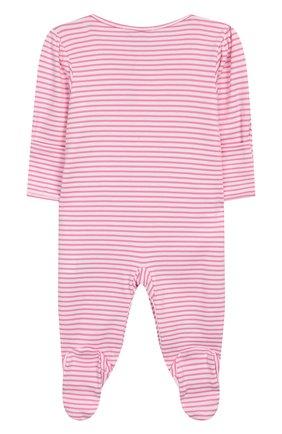 Детский хлопковый комбинезон KISSY KISSY розового цвета, арт. KGQ03544N | Фото 2