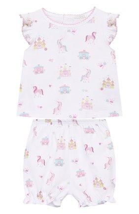 Детский комплект из топа и шорт KISSY KISSY розового цвета, арт. KGD04442I | Фото 1