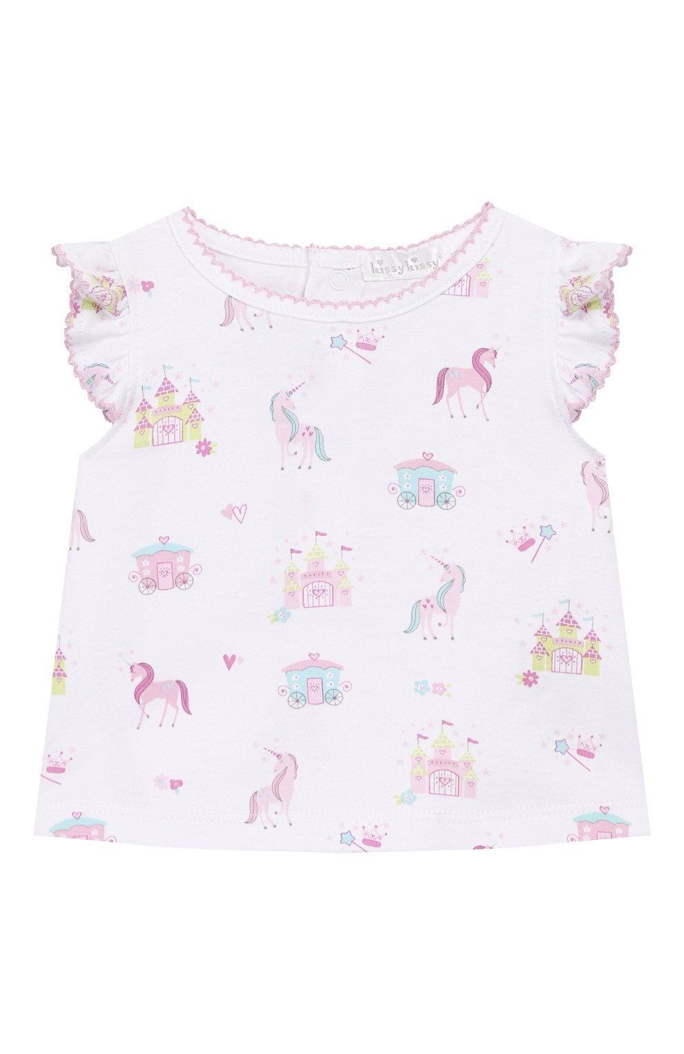 Детский комплект из топа и шорт KISSY KISSY розового цвета, арт. KGD04442I | Фото 2