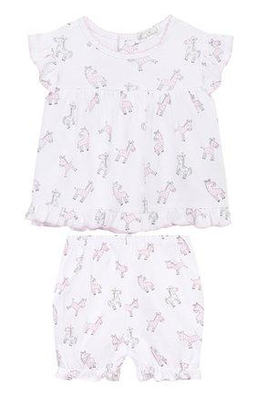 Детский комплект из топа и шорт KISSY KISSY розового цвета, арт. KGD04318I | Фото 1