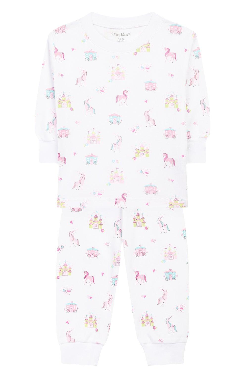 Детский хлопковая пижама KISSY KISSY розового цвета, арт. KG604441I | Фото 1