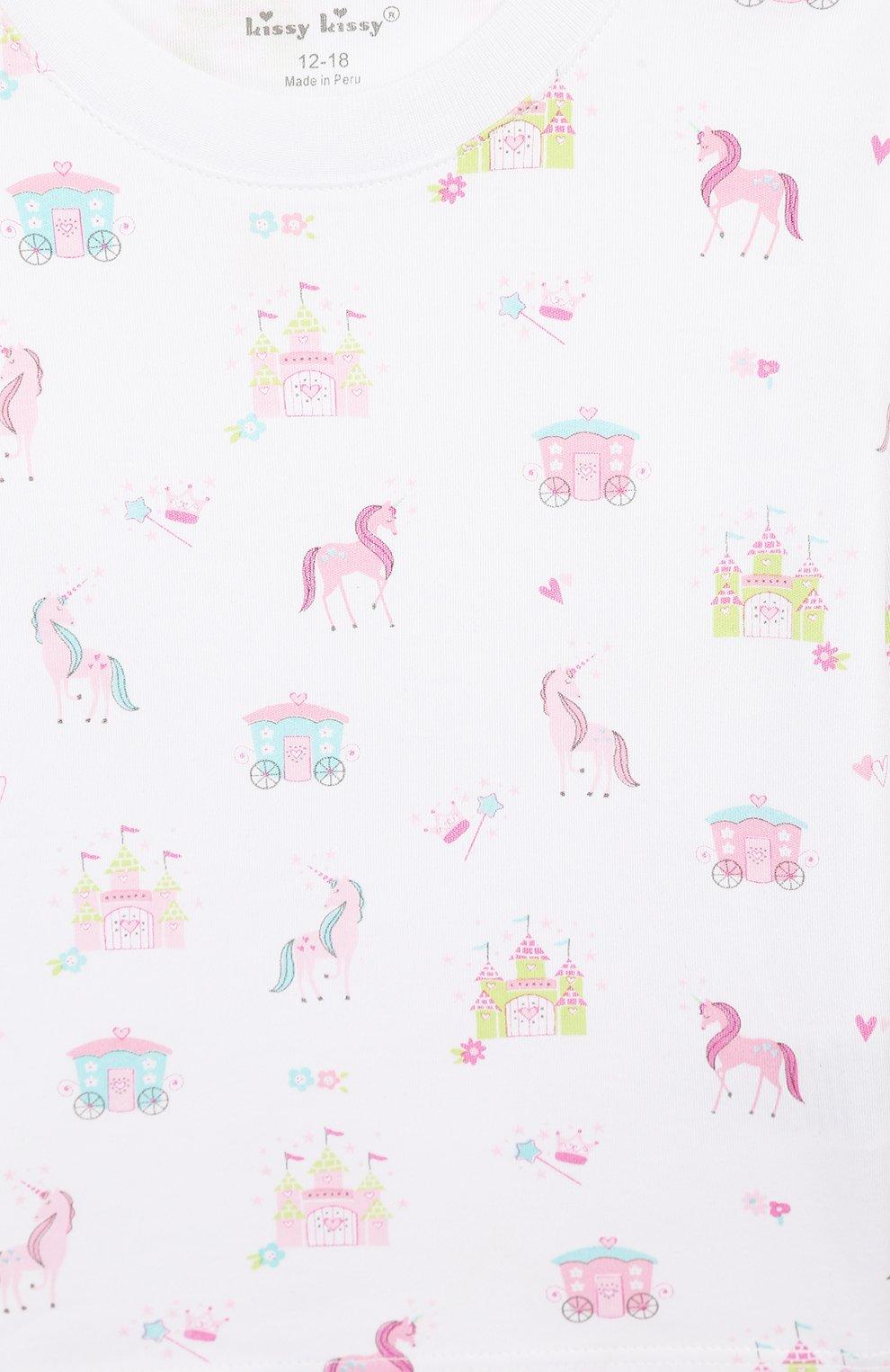 Детский хлопковая пижама KISSY KISSY розового цвета, арт. KG604441I | Фото 6