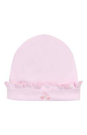 Детского хлопковая шапка KISSY KISSY розового цвета, арт. KG504459N | Фото 1