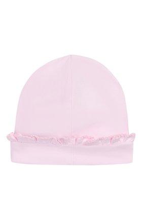 Детского хлопковая шапка KISSY KISSY розового цвета, арт. KG504459N | Фото 2