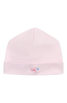 Детского хлопковая шапка KISSY KISSY розового цвета, арт. KG504447N | Фото 1