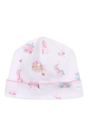 Детского хлопковая шапка KISSY KISSY розового цвета, арт. KG504446N | Фото 1