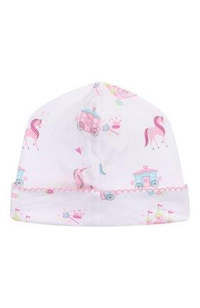 Детского хлопковая шапка KISSY KISSY розового цвета, арт. KG504446N | Фото 2