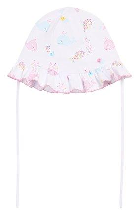 Детская хлопковая шапка KISSY KISSY розового цвета, арт. KG503557N | Фото 2