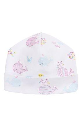 Детского хлопковая шапка KISSY KISSY розового цвета, арт. KG503555N | Фото 1