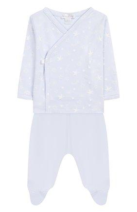 Детский комплект из распашонки и брюк KISSY KISSY голубого цвета, арт. KBZ04280N | Фото 1