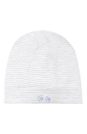 Детского хлопковая шапка KISSY KISSY серого цвета, арт. KB503980N | Фото 1