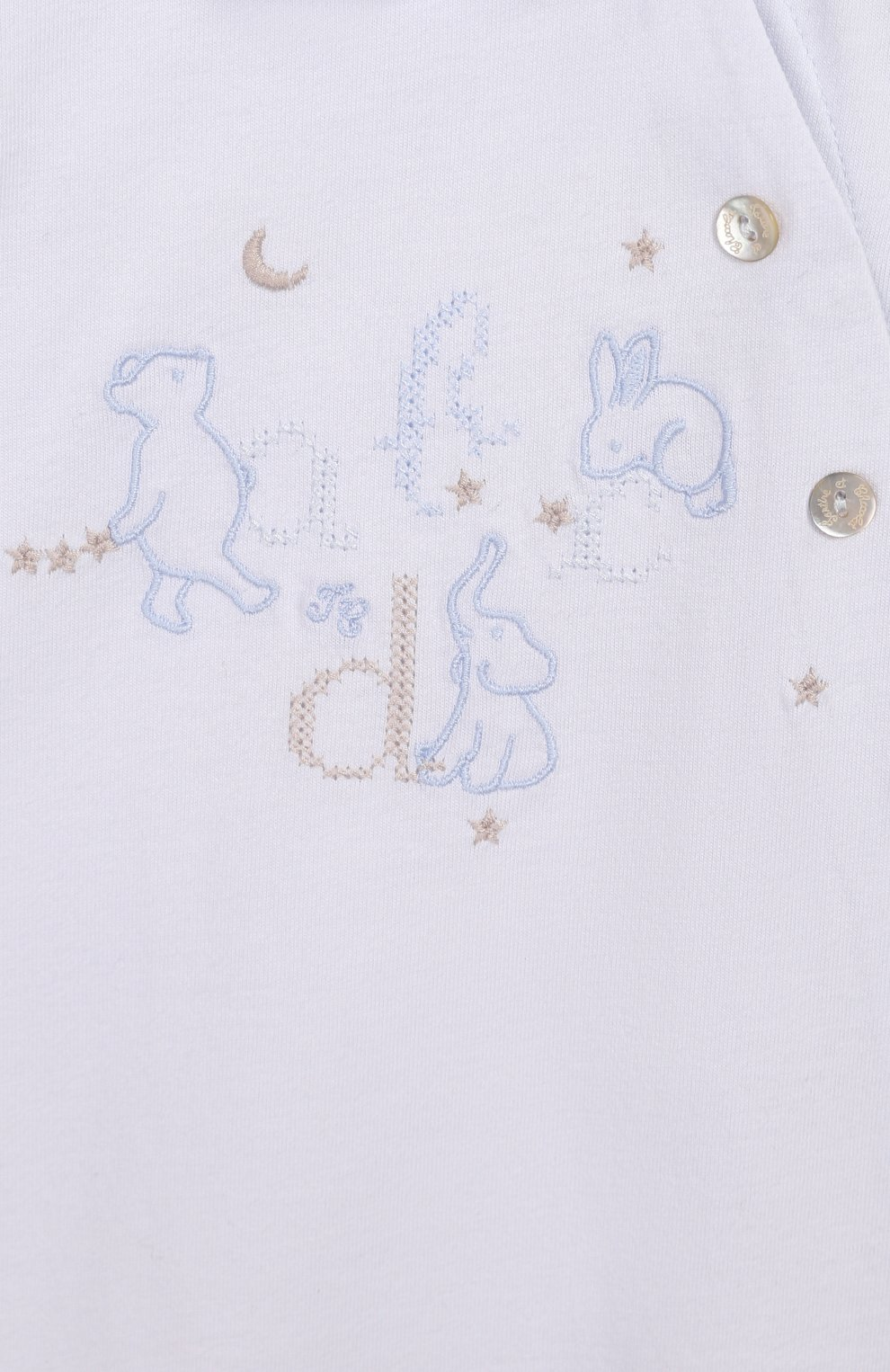 Детский хлопковый комбинезон TARTINE ET CHOCOLAT голубого цвета, арт. TQ54121   Фото 3