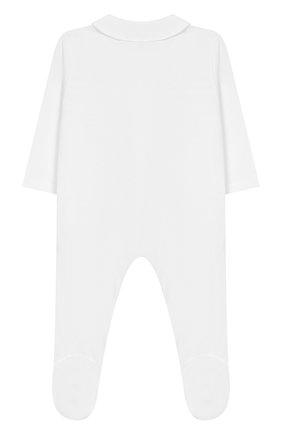 Детский хлопковый комбинезон TARTINE ET CHOCOLAT белого цвета, арт. TQ54091 | Фото 2