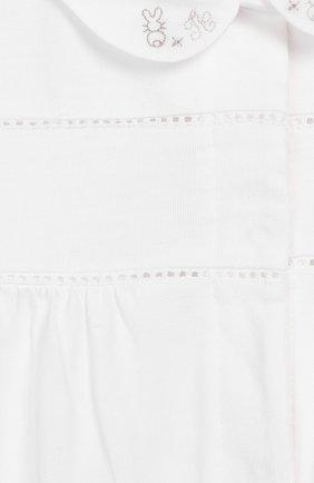Детский хлопковый комбинезон TARTINE ET CHOCOLAT белого цвета, арт. TQ54091 | Фото 3