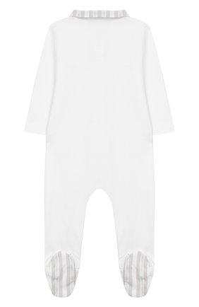 Детский хлопковый комбинезон TARTINE ET CHOCOLAT серого цвета, арт. TQ54021 | Фото 2