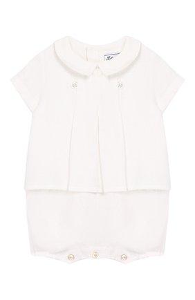 Детское льняной комбинезон TARTINE ET CHOCOLAT белого цвета, арт. TQ33131 | Фото 1