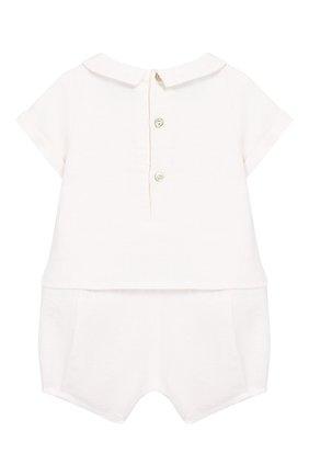 Детское льняной комбинезон TARTINE ET CHOCOLAT белого цвета, арт. TQ33131 | Фото 2