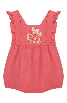 Детское льняной комбинезон TARTINE ET CHOCOLAT розового цвета, арт. TQ33001/1M-1A | Фото 1