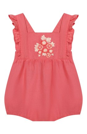 Детское льняной комбинезон TARTINE ET CHOCOLAT розового цвета, арт. TQ33001/18M-3A   Фото 1