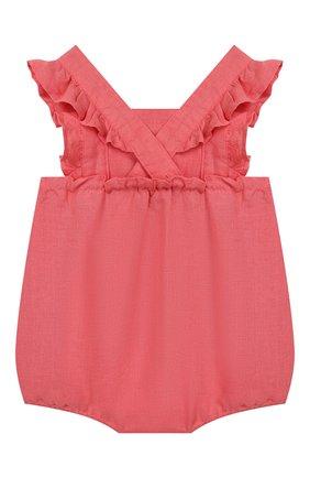 Детское льняной комбинезон TARTINE ET CHOCOLAT розового цвета, арт. TQ33001/18M-3A   Фото 2
