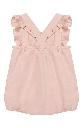 Детское льняной комбинезон TARTINE ET CHOCOLAT светло-розового цвета, арт. TQ33001/18M-3A   Фото 2