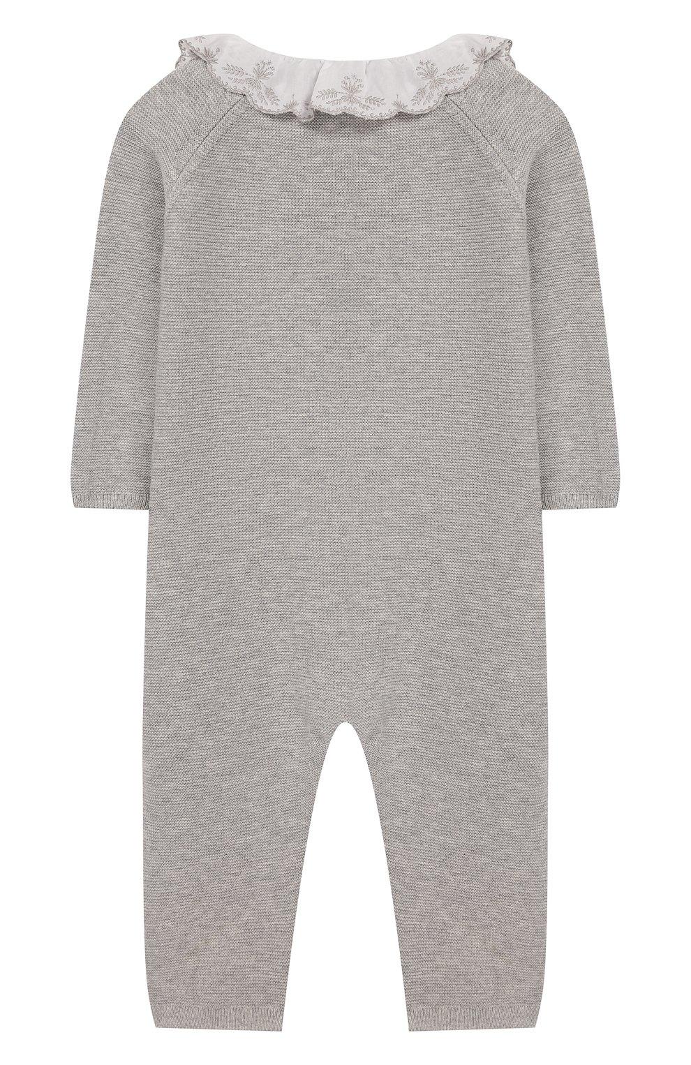 Детский хлопковый комбинезон TARTINE ET CHOCOLAT серого цвета, арт. TQ32001/1M-1A | Фото 2