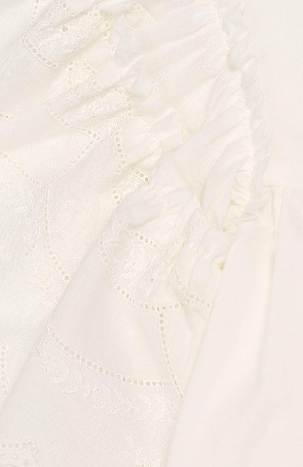 Детское хлопковое платье TARTINE ET CHOCOLAT бежевого цвета, арт. TQ30182 | Фото 3 (Рукава: Короткие; Случай: Повседневный; Материал внешний: Хлопок; Материал подклада: Хлопок)