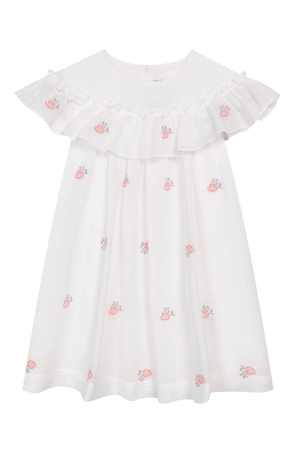 Женская хлопковое платье TARTINE ET CHOCOLAT белого цвета, арт. TQ30161/18M-3A | Фото 1