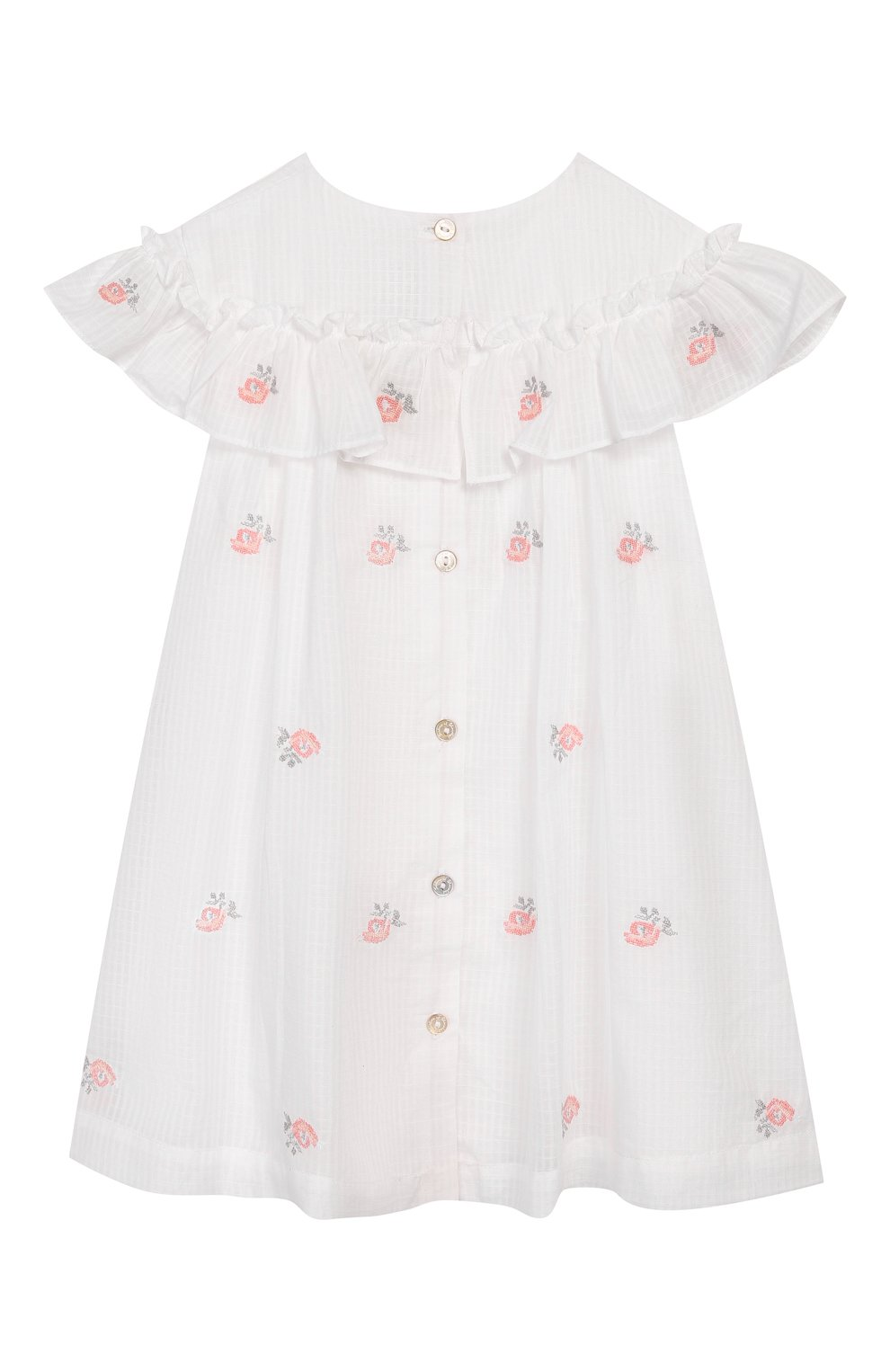 Женская хлопковое платье TARTINE ET CHOCOLAT белого цвета, арт. TQ30161/18M-3A | Фото 2