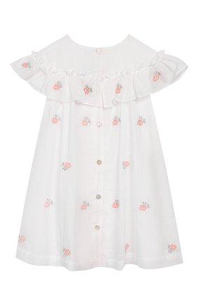 Женский хлопковое платье TARTINE ET CHOCOLAT белого цвета, арт. TQ30161/18M-3A | Фото 2
