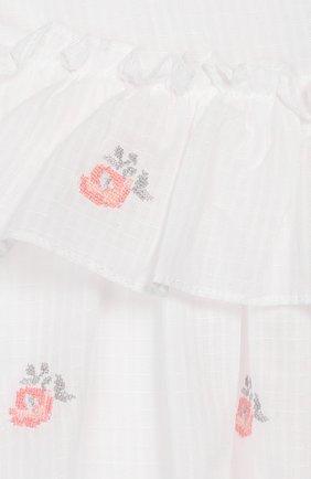 Женская хлопковое платье TARTINE ET CHOCOLAT белого цвета, арт. TQ30161/18M-3A | Фото 3