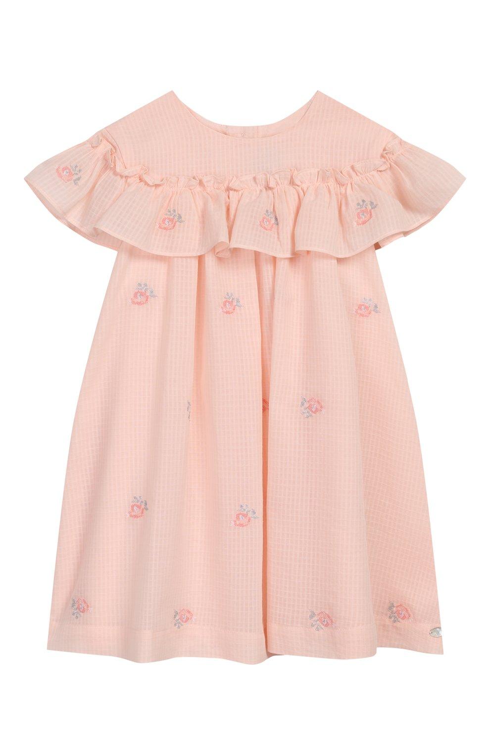 Женский хлопковое платье TARTINE ET CHOCOLAT розового цвета, арт. TQ30161/18M-3A | Фото 1