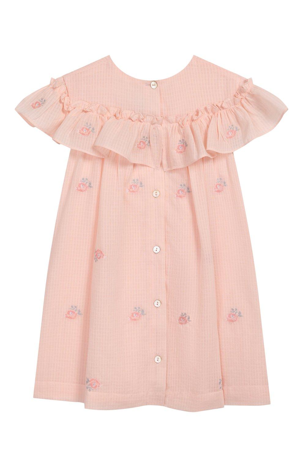 Женский хлопковое платье TARTINE ET CHOCOLAT розового цвета, арт. TQ30161/18M-3A | Фото 2