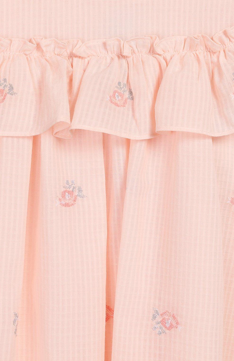 Женский хлопковое платье TARTINE ET CHOCOLAT розового цвета, арт. TQ30161/18M-3A | Фото 3