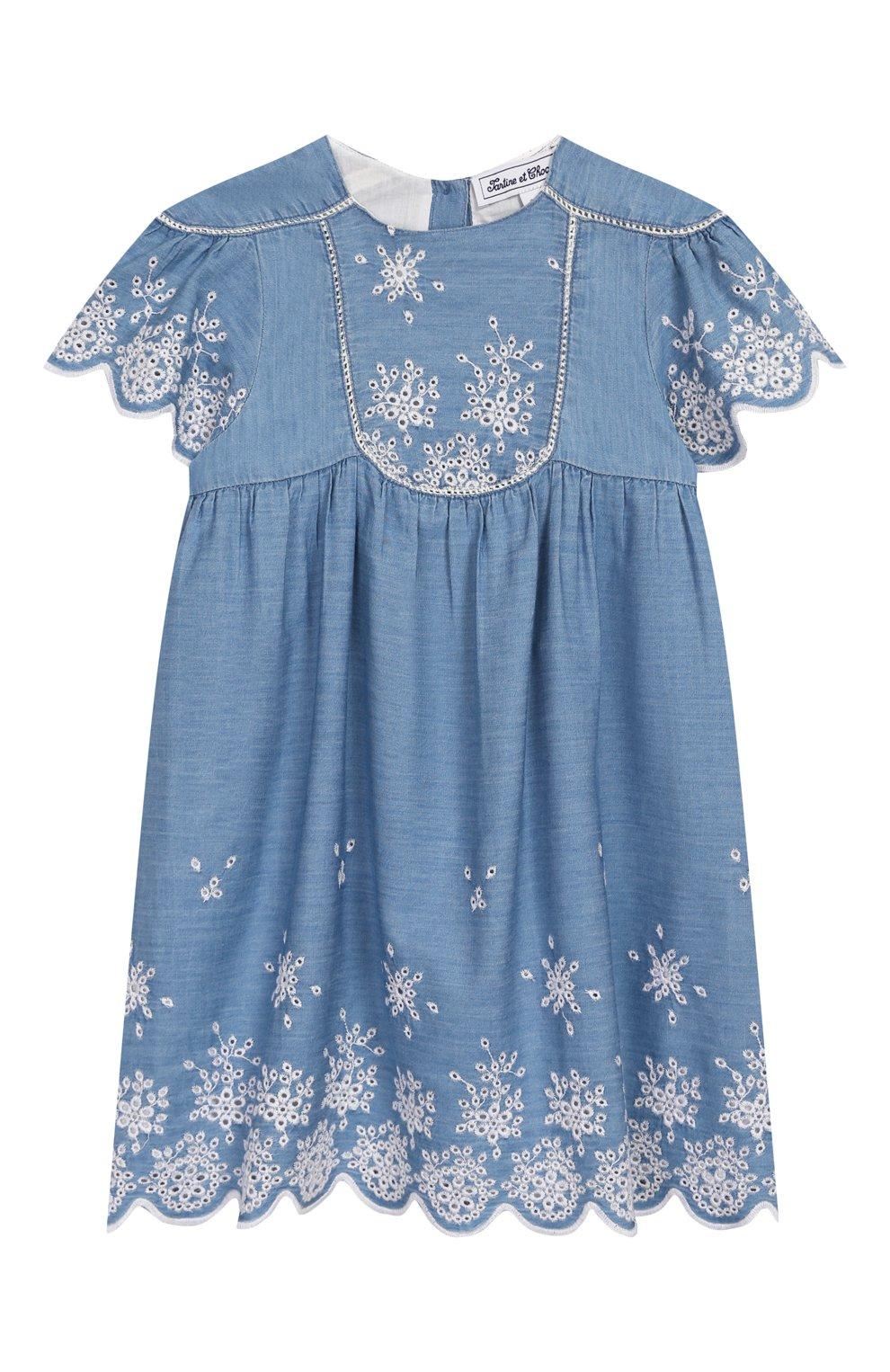 Женская хлопковое платье TARTINE ET CHOCOLAT синего цвета, арт. TQ30131/18M-3A | Фото 1