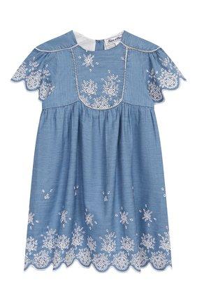 Женский хлопковое платье TARTINE ET CHOCOLAT синего цвета, арт. TQ30131/18M-3A | Фото 1