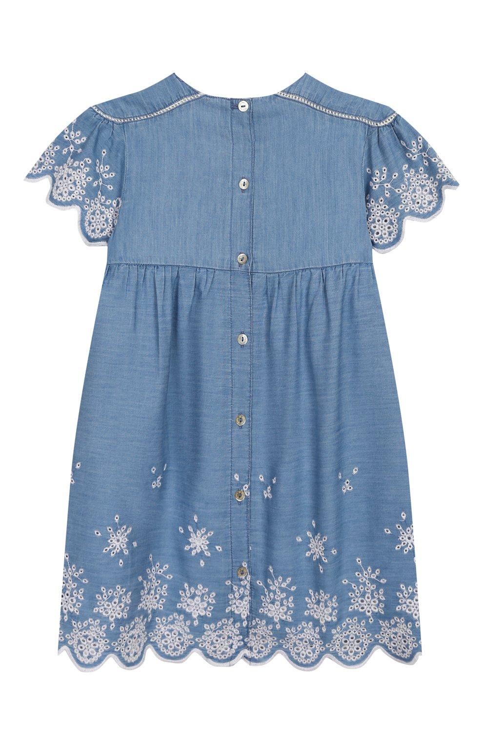 Женская хлопковое платье TARTINE ET CHOCOLAT синего цвета, арт. TQ30131/18M-3A | Фото 2