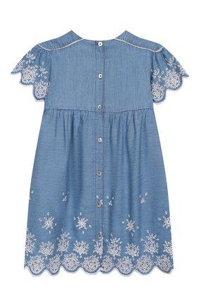 Женский хлопковое платье TARTINE ET CHOCOLAT синего цвета, арт. TQ30131/18M-3A | Фото 2