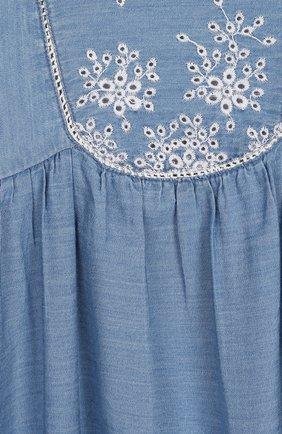 Женская хлопковое платье TARTINE ET CHOCOLAT синего цвета, арт. TQ30131/18M-3A | Фото 3