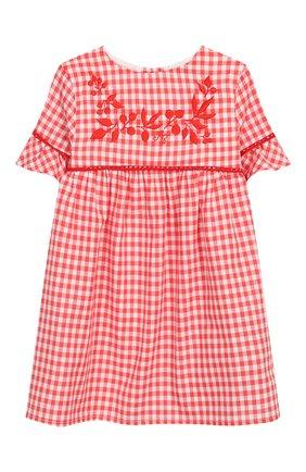 Женский хлопковое платье TARTINE ET CHOCOLAT кораллового цвета, арт. TQ30061/18M-3A | Фото 1