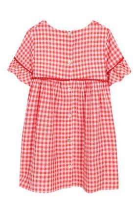 Женский хлопковое платье TARTINE ET CHOCOLAT кораллового цвета, арт. TQ30061/18M-3A | Фото 2