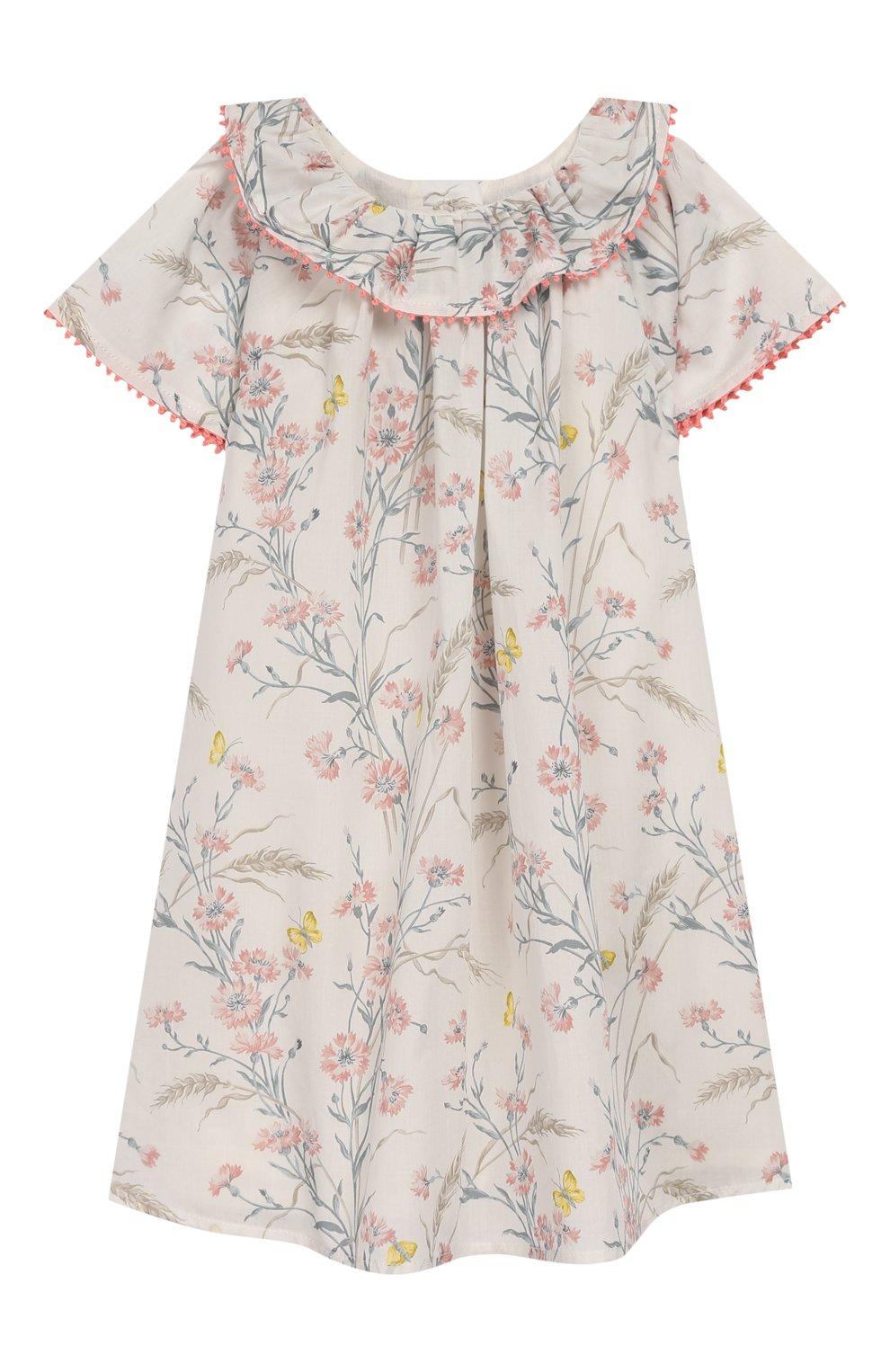 Женский хлопковое платье TARTINE ET CHOCOLAT бежевого цвета, арт. TQ30041/18M-3A   Фото 1