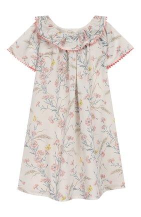 Женский хлопковое платье TARTINE ET CHOCOLAT бежевого цвета, арт. TQ30041/18M-3A | Фото 1