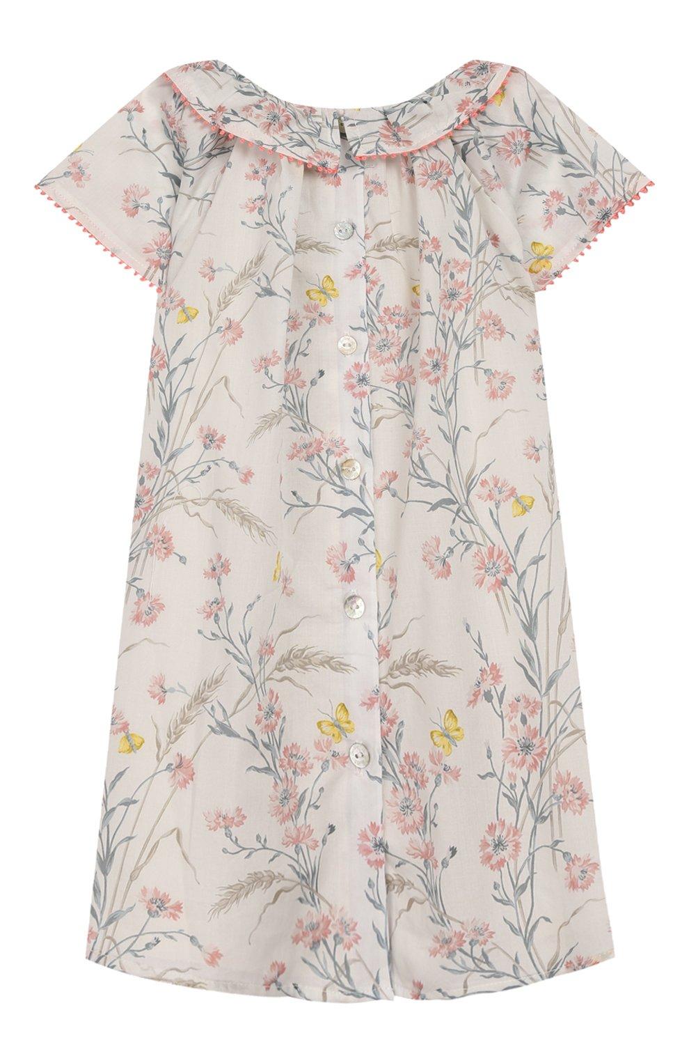 Женский хлопковое платье TARTINE ET CHOCOLAT бежевого цвета, арт. TQ30041/18M-3A   Фото 2